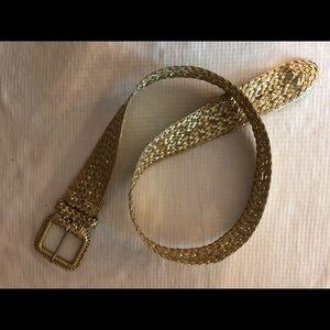 Beautiful gold colored woven belt size medium